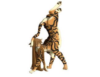 Taur Handstand by lionsilverwolf
