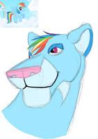 My Little Lion: Rainbow Dash by lionsilverwolf