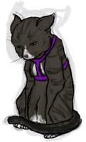 Disgruntled Kitty by lionsilverwolf