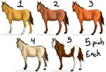 OPEN 5 Point Horse Adopts