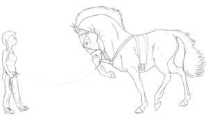 Nate Training by lionsilverwolf