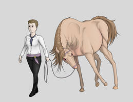 WIP White Russian Halter - BCR Spring Show by lionsilverwolf