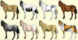 OPEN 5 Left Point Horse Adoptables by lionsilverwolf