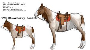 WTS Strawberry Desert + Tack by lionsilverwolf