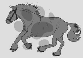 Commission - Gallop Lines by lionsilverwolf