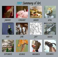 2012 Art Summary by lionsilverwolf