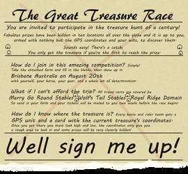The Great Treasure Race by lionsilverwolf
