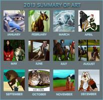 2013 Art Summary by lionsilverwolf