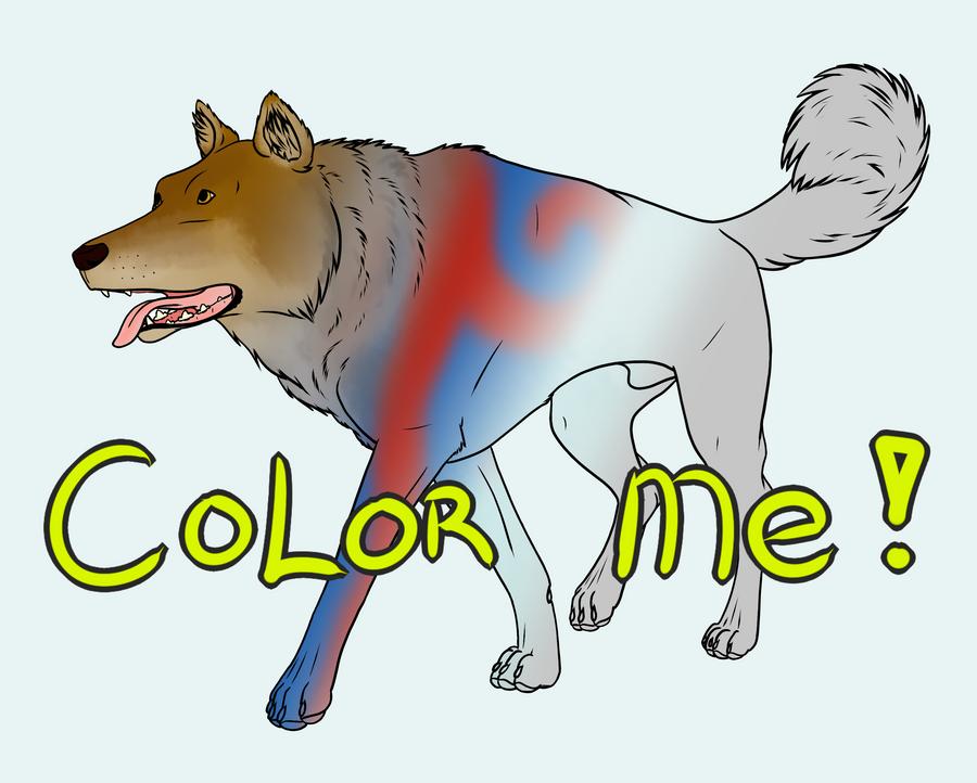 20pt Wolf Lineart by lionsilverwolf