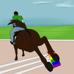 LGBT Pride - Jumping by lionsilverwolf