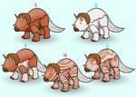 OPEN 50PT Icecream Dinosaur Adoptables Triceratops by lionsilverwolf