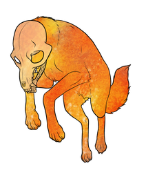 Spoopy Fox Transparent by lionsilverwolf