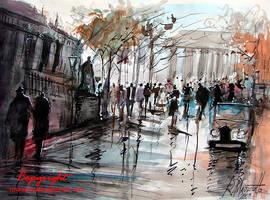 Paris in watercolour by ricardomassucatto
