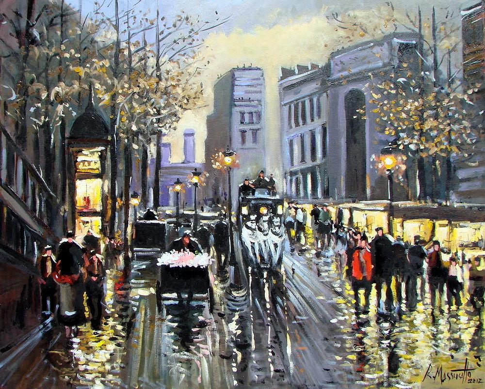 Paris Night Belle Epoque by ricardomassucatto
