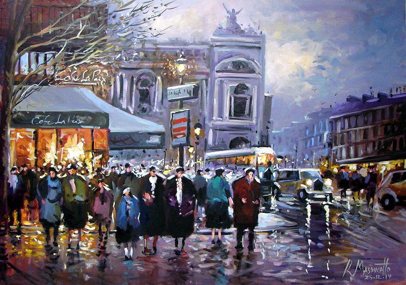 Paris Cafe La Paix by ricardomassucatto