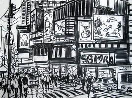New York Sefora Drawing by ricardomassucatto