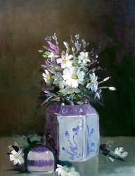 Small vase with flowers by ricardomassucatto