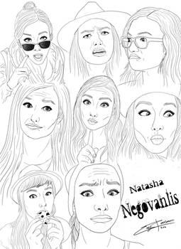 Natasha funny faces