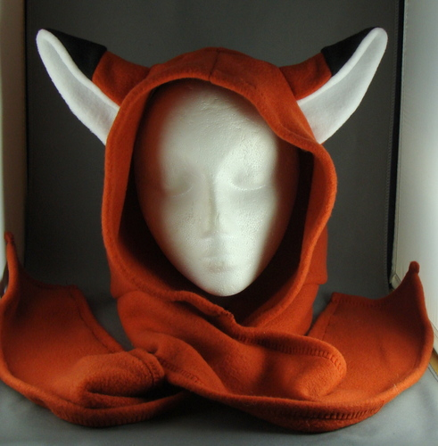 Fox Fleece Hoodie Hat Scarf by wikiwisemandotcom