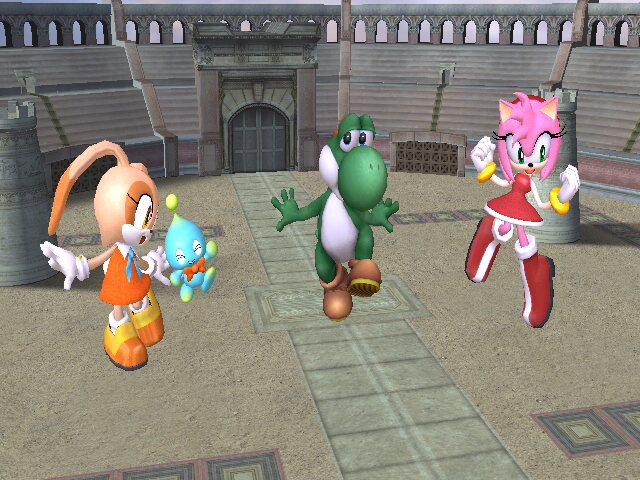 Brawl: Yoshi's new friends by Paragon-Yoshi