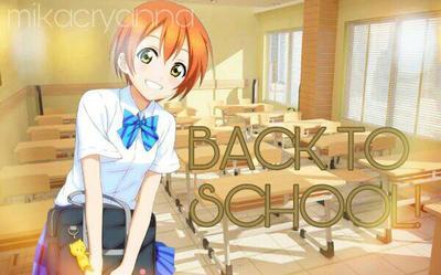 Rin Hoshizora Back To School Wallpaper by DarkyChan52