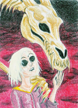 ACEO Hela and B-dragon - Faqy by NikiKalat