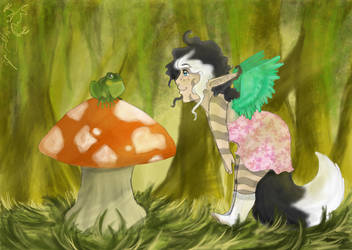 The fern, the frog and the fae by Hellphoenix-san