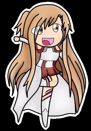 SAO: Chibi Asuna by Kittyfriend12345