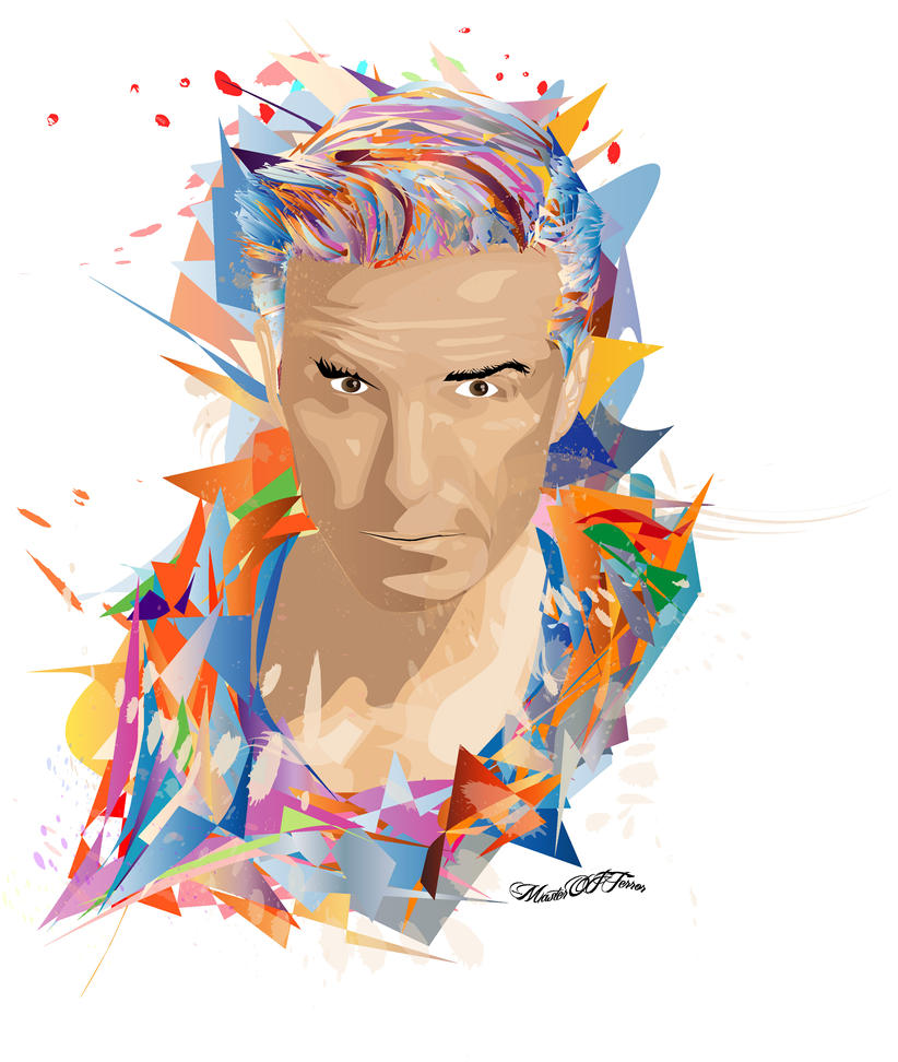 #1 David Beckham Vector by SempaxWarrior