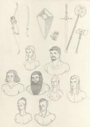 Eriandos Sketches compendium