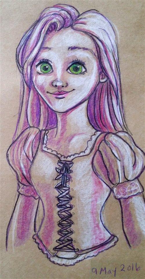 Rapunzel Sketch by vandonovan