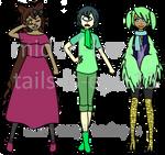 Monster girl adoptables ufs 1/3 OPEN by Midori-berry