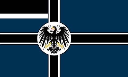 Redesigned Prussian Naval Ensign (Kaliningrad TL)
