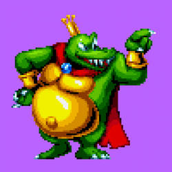 King K. Rool Smash Pose (Mania styled) by BendyTheDesigner