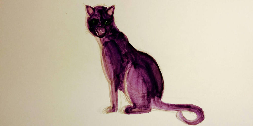 Purple Cat by OceloSaurus