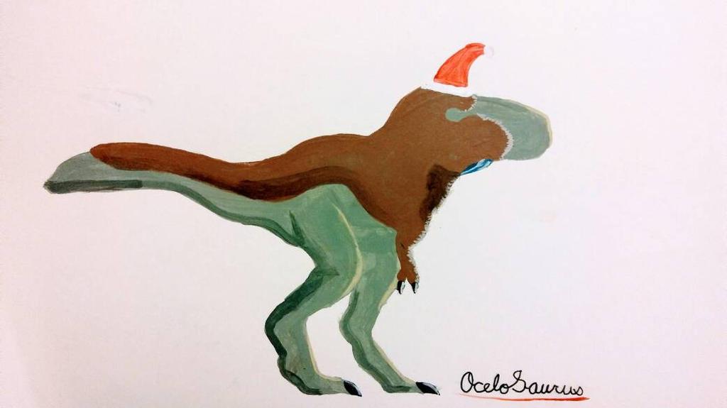 Santasaurus Rex by OceloSaurus