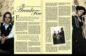 Arcade Fire Magazine Spread by iROCKpaperscissors