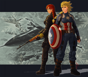 Captain Arendelle and Winter Widow by JYC