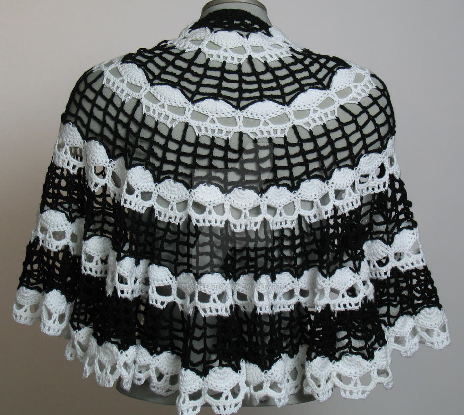 Skull Cape - a Spider Mambo design crocheted by me by Judescreations ...