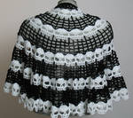 Skull Cape - a Spider Mambo design crocheted by me