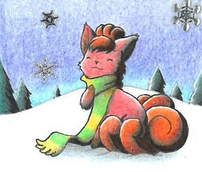 Snowy Vulpix