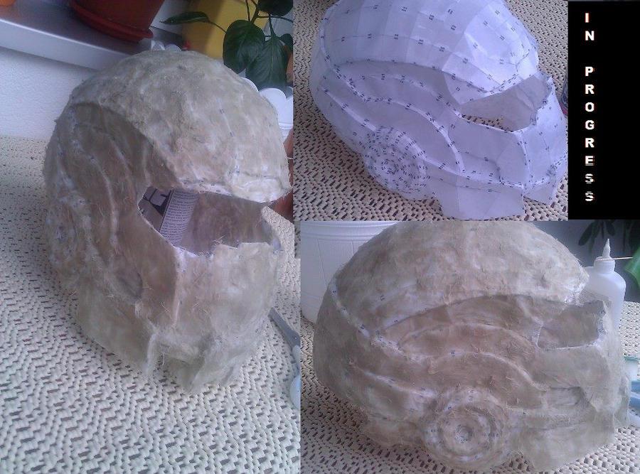 Shepard's lost N7 Helmet by Saka88Bln