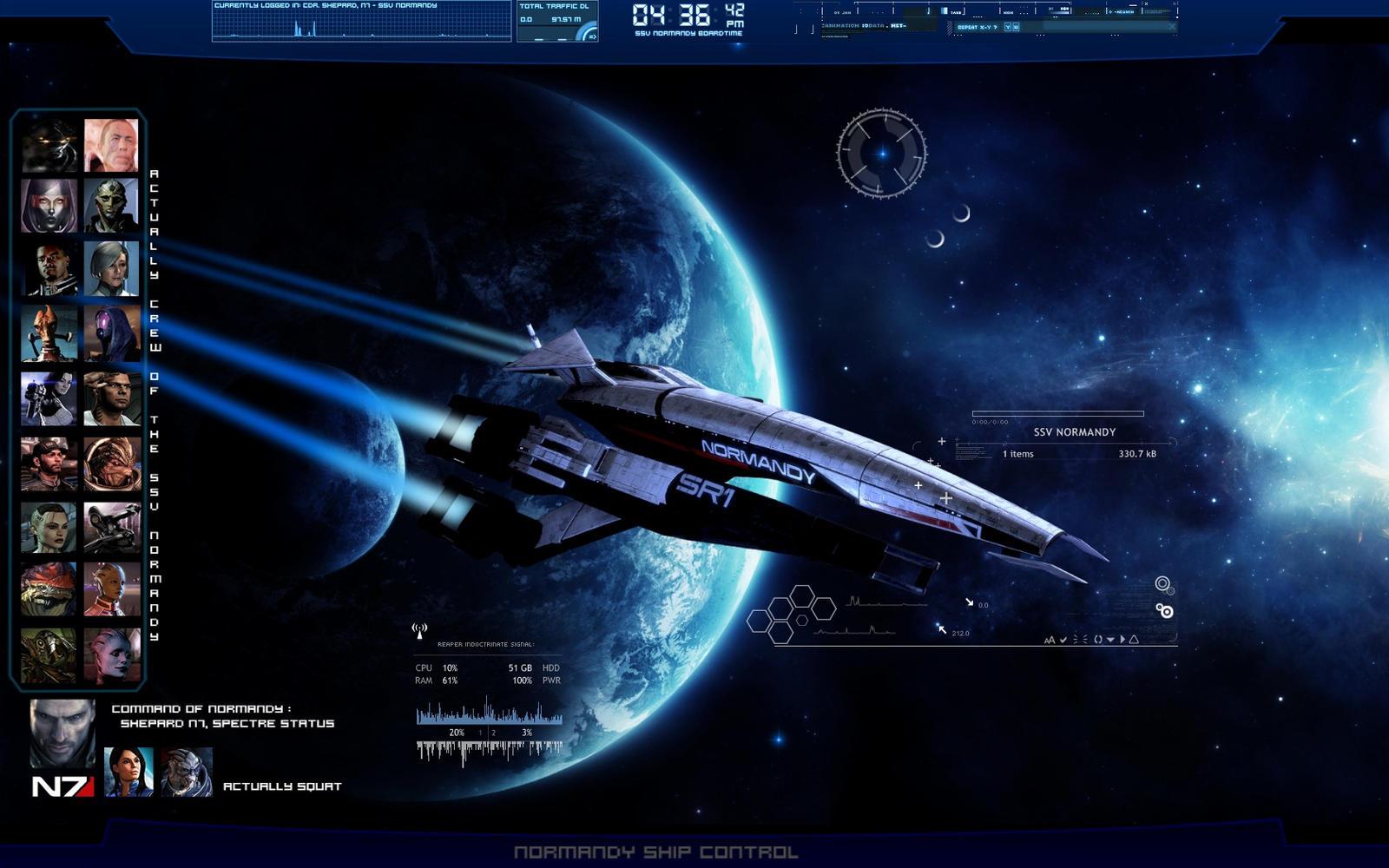 Gmail theme anime - Ijoemski 10 2 Mass Effect Desktop By Saka88bln