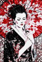 Geisha - Inktober by Andrzej5056