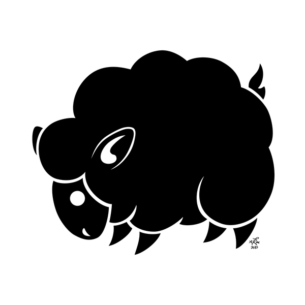 Deer Head Clipart Black And White Black Sheep Drawing