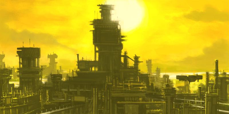 Industrial city by LasloLF