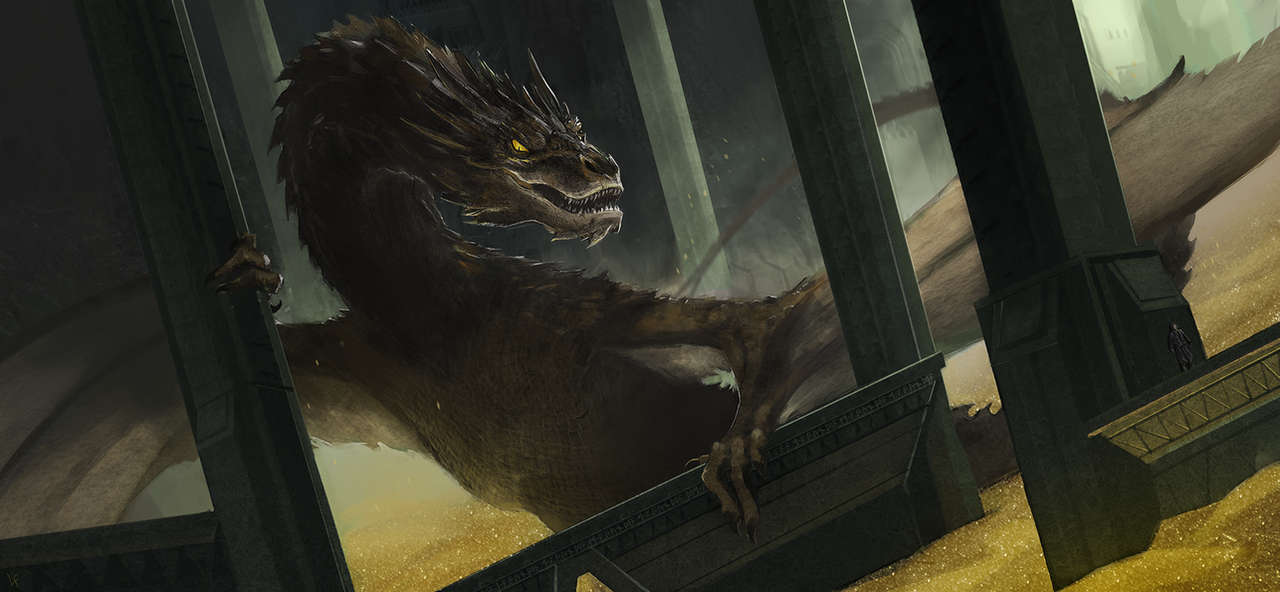 Smaug the Terrible by LasloLF