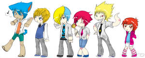 Boy lessons chibi attack by Neonic-Tea