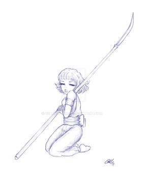 Naginata girl