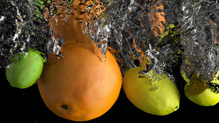 Blender Fruit in water
